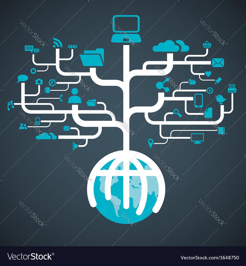 Network globe worldwide vector   Price: 1 Credit (USD $1)