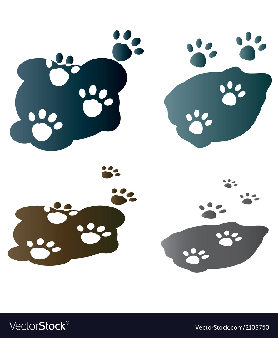Paws vector | Price: 1 Credit (USD $1)