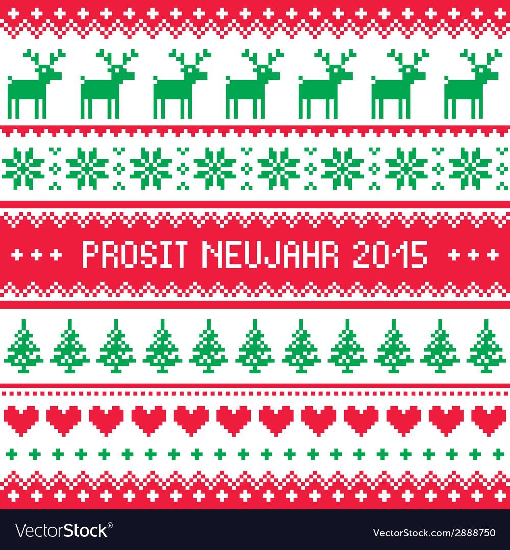 Prosit neujahr 2015 - happy new year in german pa vector | Price: 1 Credit (USD $1)