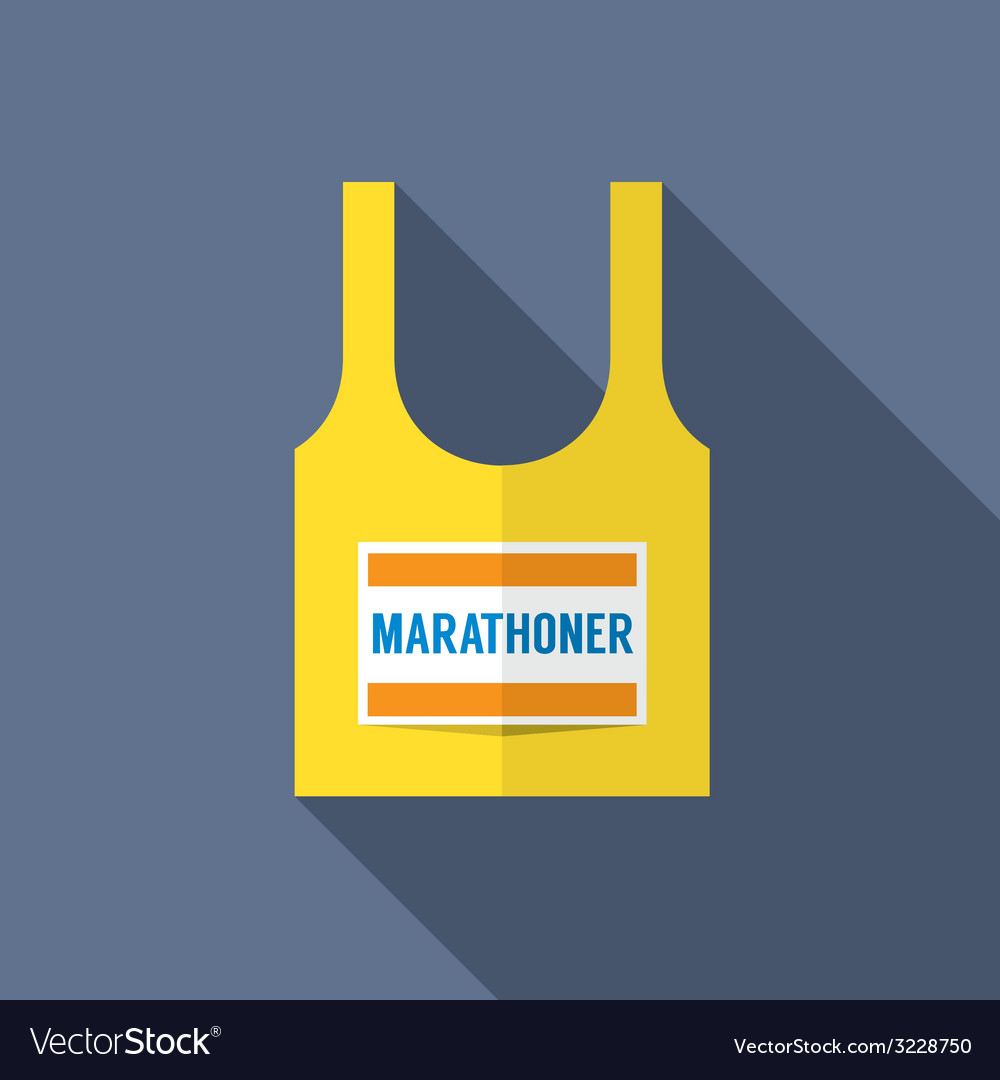 Singlet of marathon runner vector | Price: 1 Credit (USD $1)