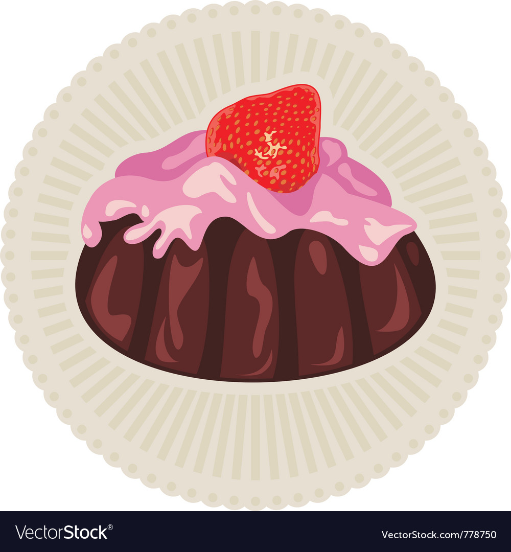 Strawberry dessert vector | Price: 1 Credit (USD $1)