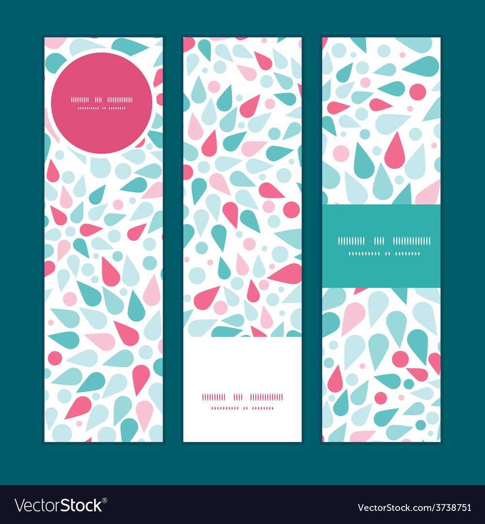 Abstract colorful drops vertical banners vector   Price: 1 Credit (USD $1)