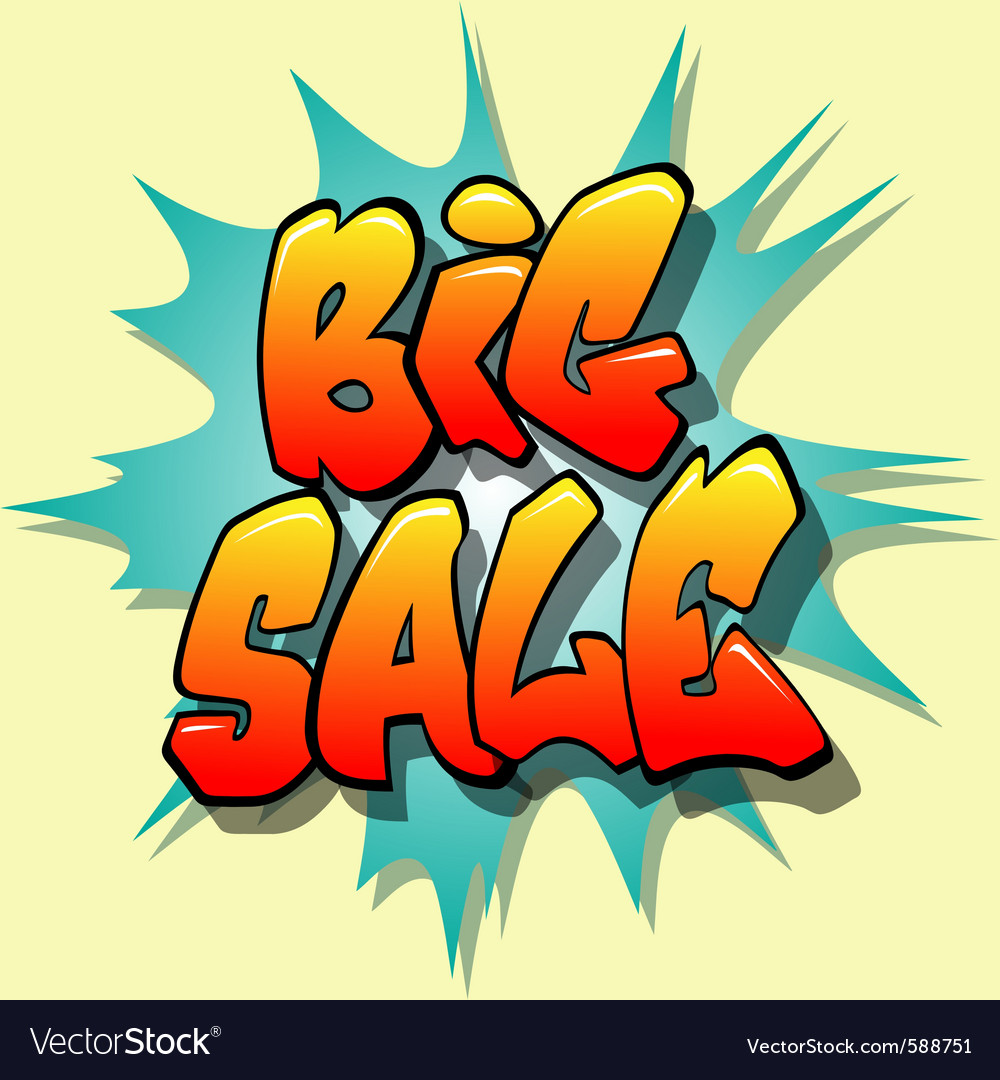 Big sale sign vector | Price: 1 Credit (USD $1)