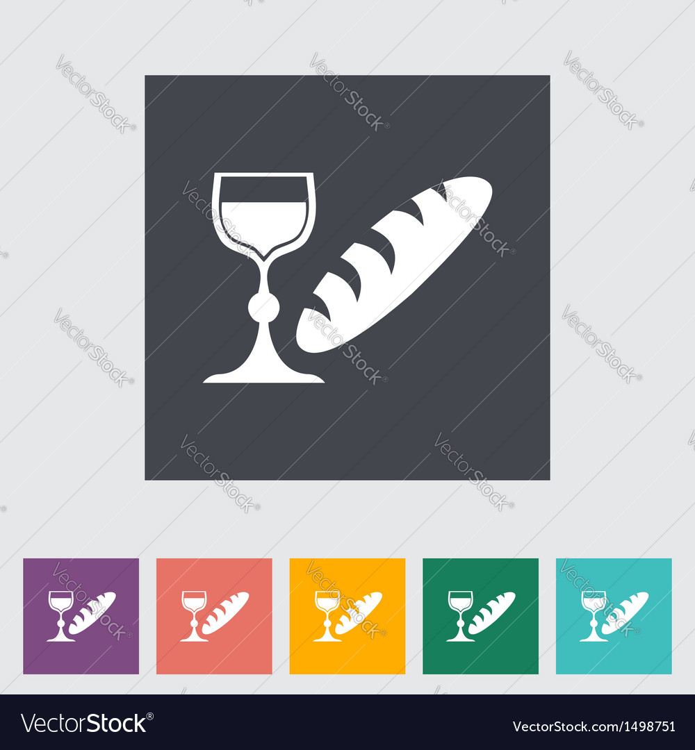 Bread and wine vector | Price: 1 Credit (USD $1)