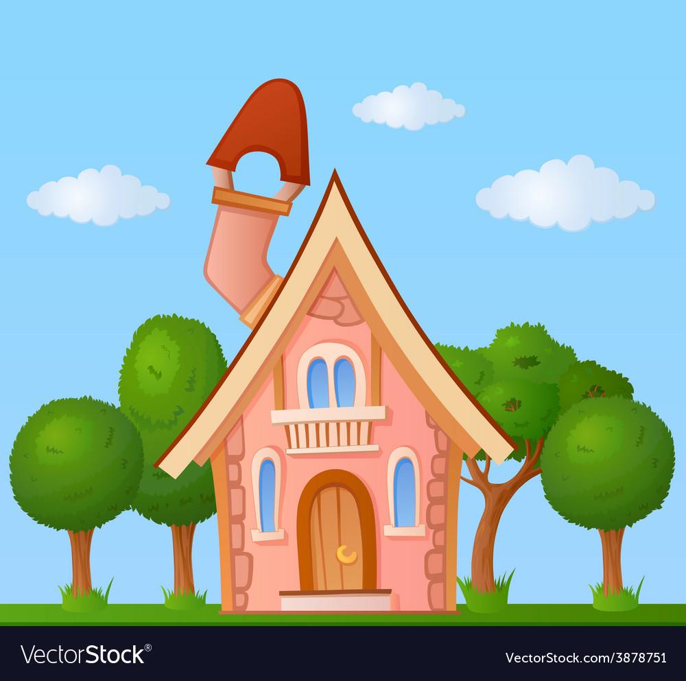 Cartoon house vector | Price: 1 Credit (USD $1)