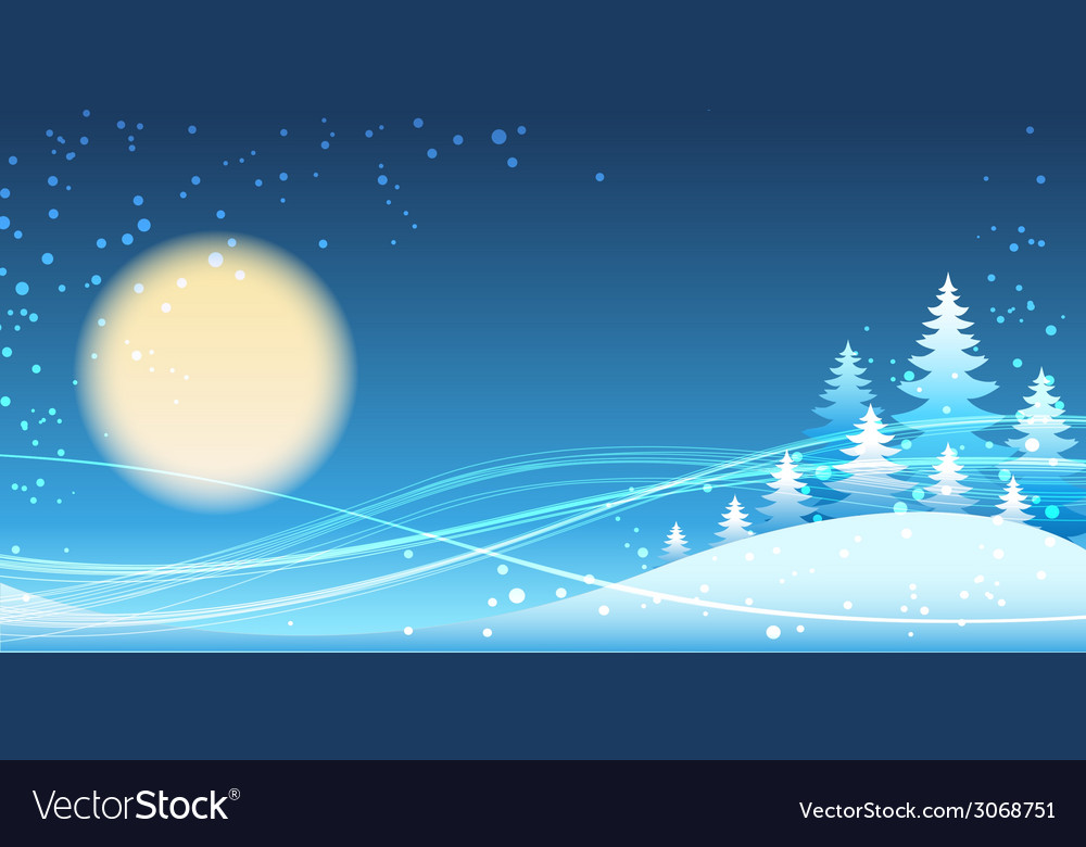 Christmas and new year festive blue theme vector | Price: 1 Credit (USD $1)