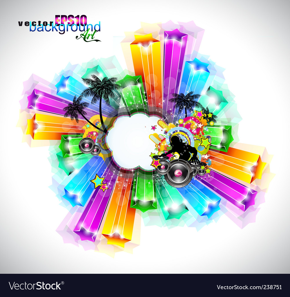 Disco event background vector | Price: 1 Credit (USD $1)