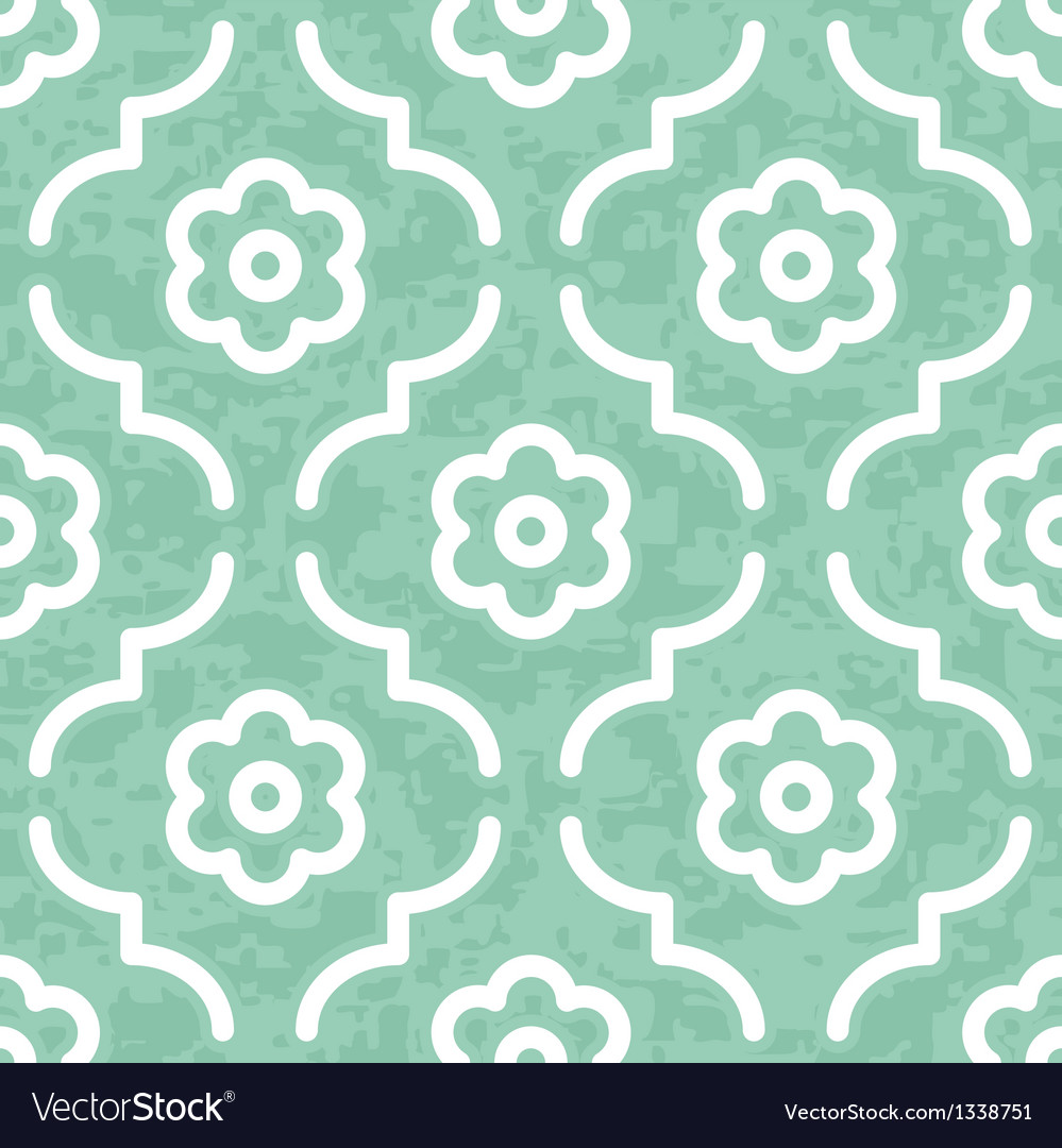 Jade emerald moroccan flowers vector | Price: 1 Credit (USD $1)