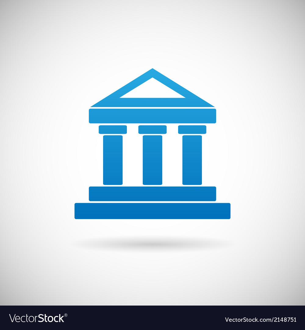 Law court bank house symbol justice finance icon vector | Price: 1 Credit (USD $1)