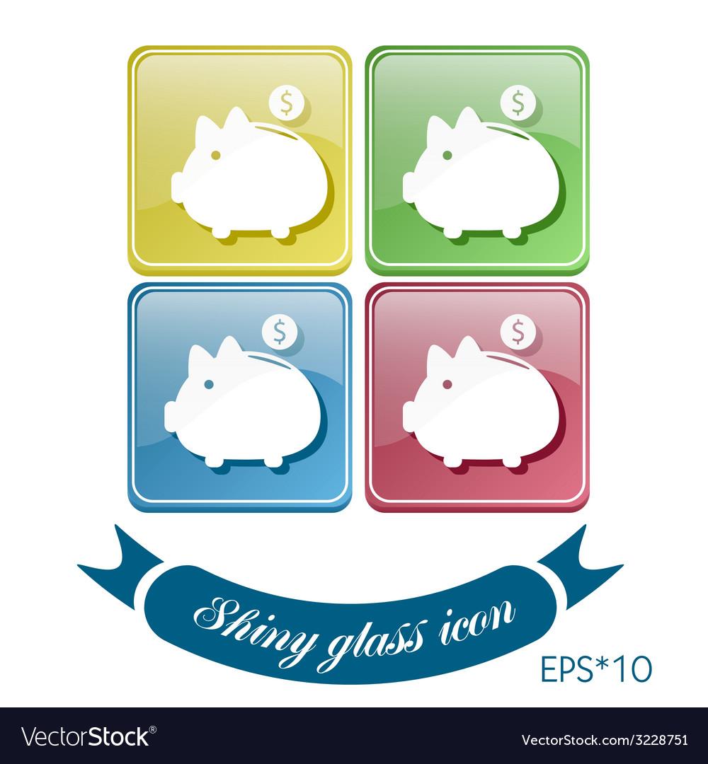 Piggy bank symbol of money vector | Price: 1 Credit (USD $1)