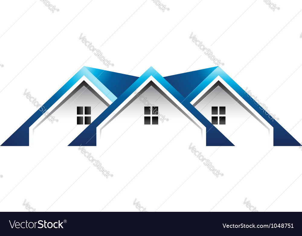 Roof houses logo vector | Price: 1 Credit (USD $1)