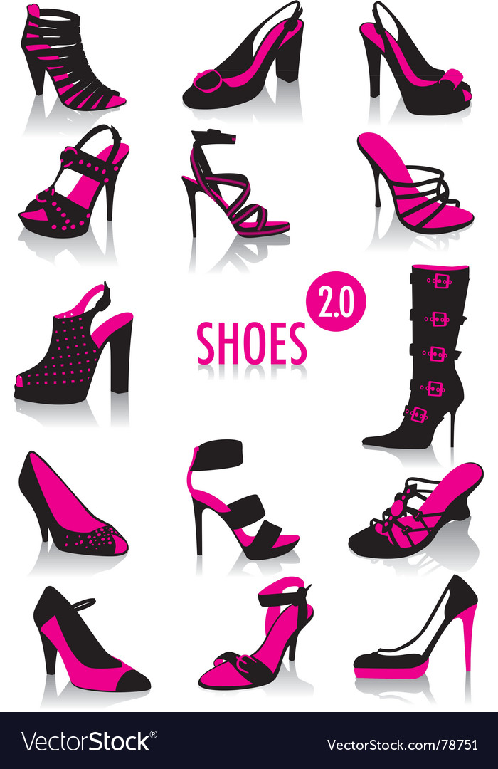 Shoes silhouettes vector | Price: 1 Credit (USD $1)