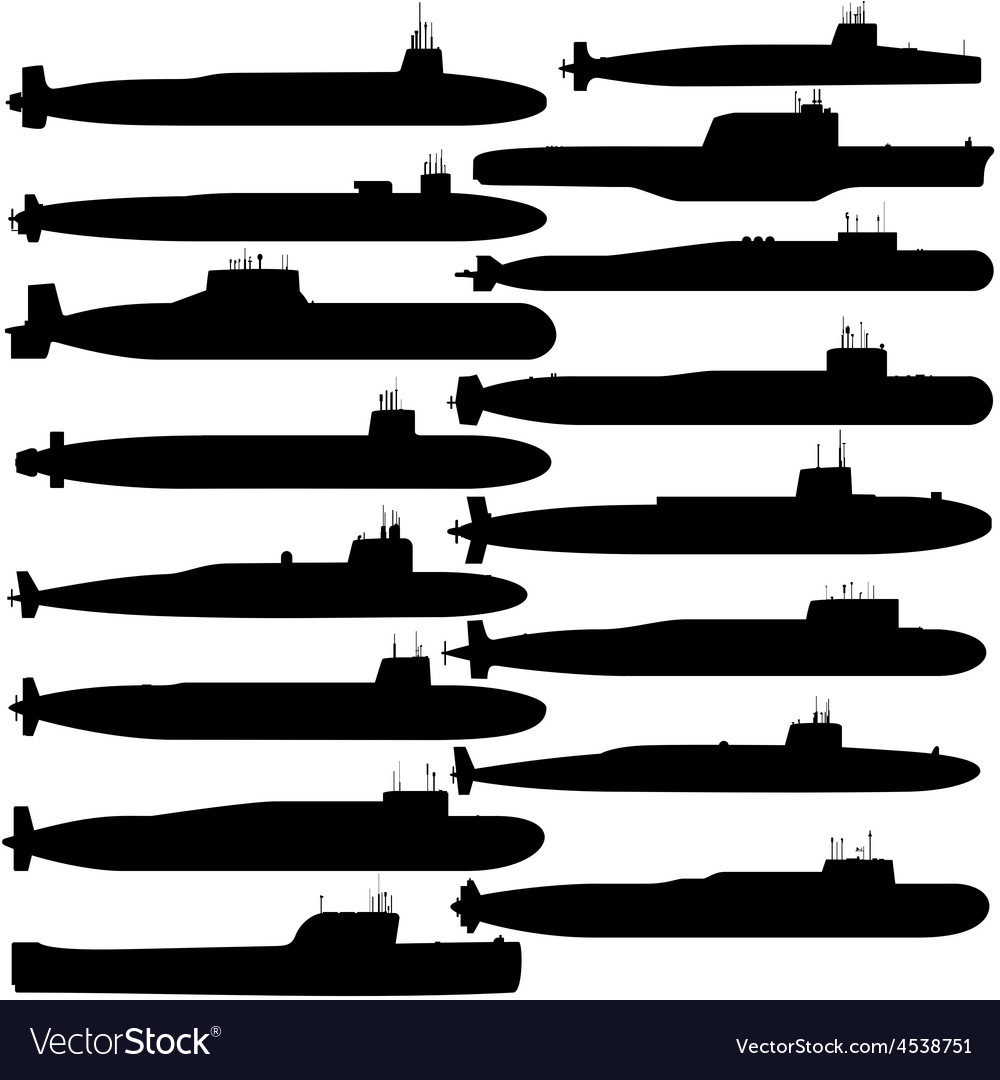 Submarine ballistic missiles vector | Price: 1 Credit (USD $1)