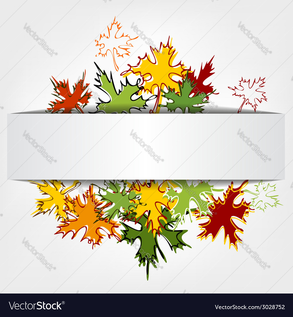Colorful autumn leaves background llustration vector | Price: 1 Credit (USD $1)