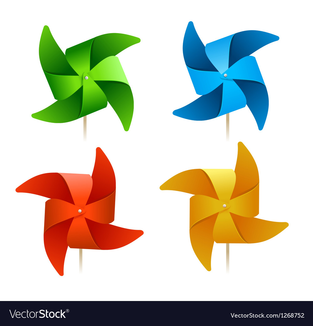 Colorful windmills vector | Price: 1 Credit (USD $1)