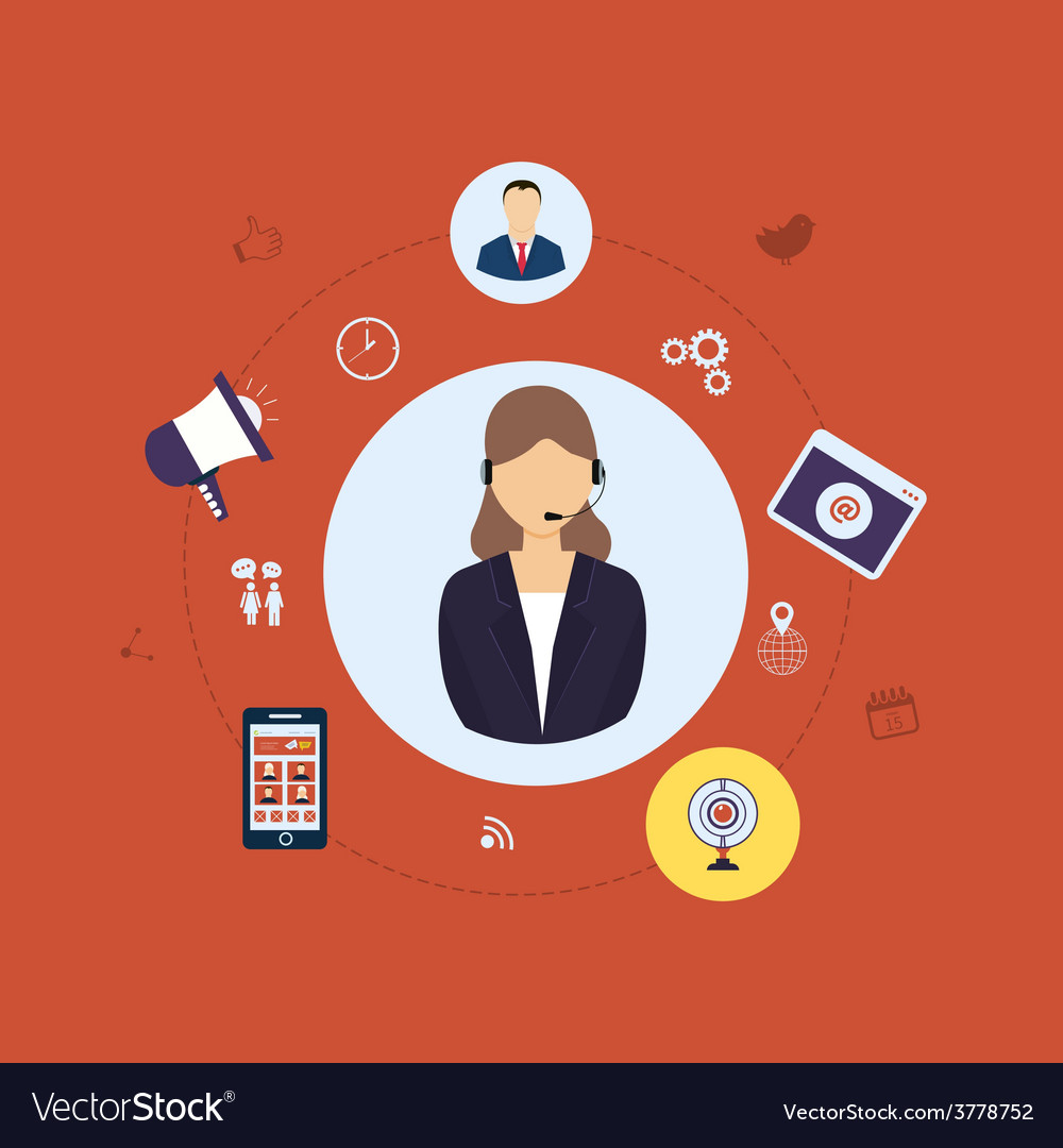 Customer support vector   Price: 1 Credit (USD $1)