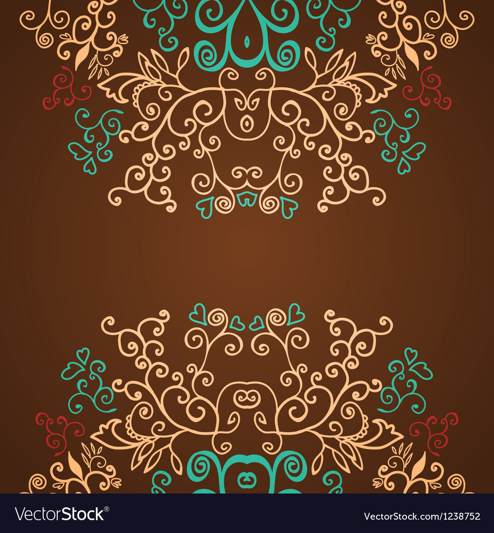 Excellent brown floral pattern design background vector | Price: 1 Credit (USD $1)