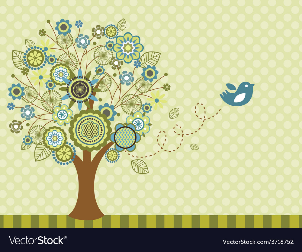 Happy easter bird  greeting card vector