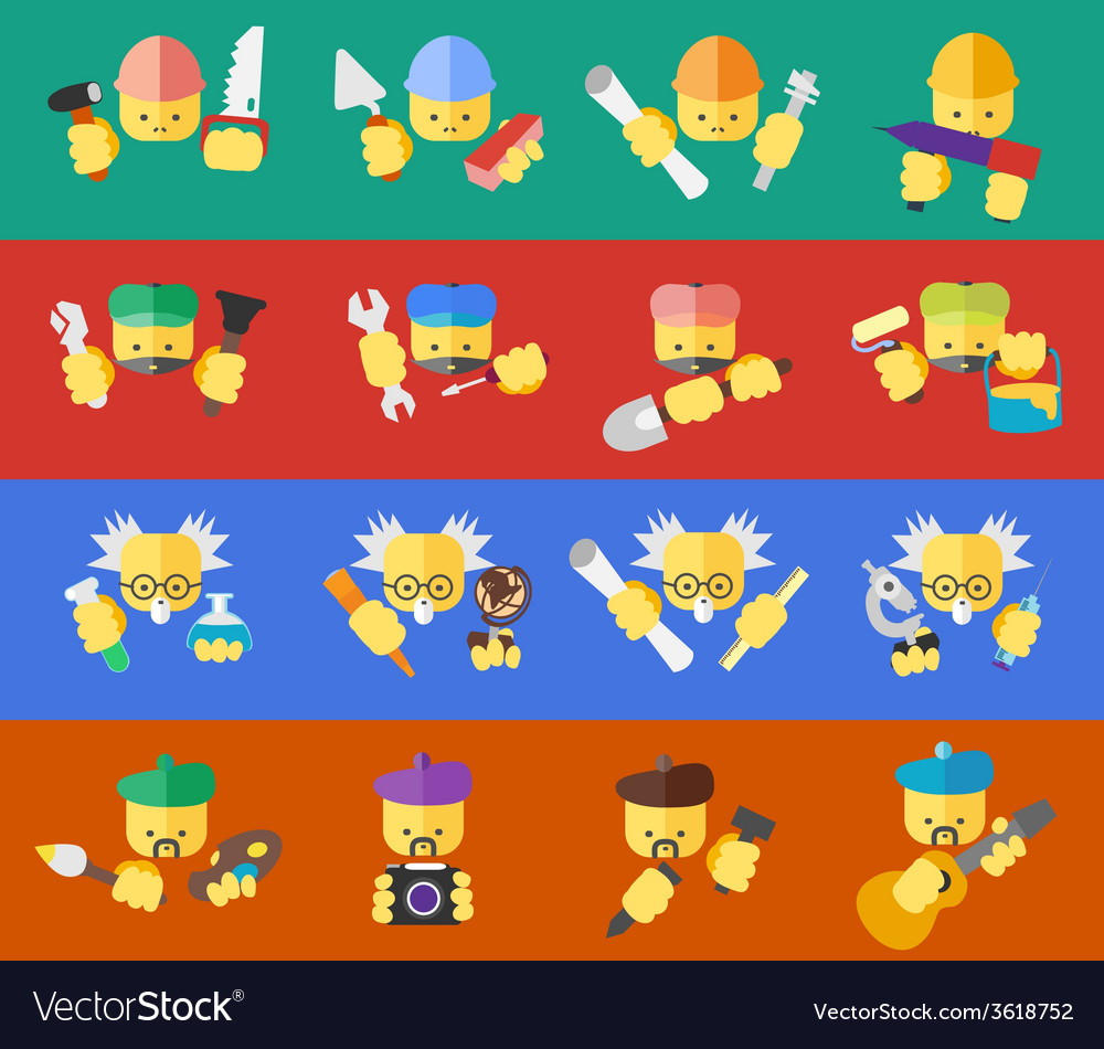 Icons of professions vector | Price: 1 Credit (USD $1)