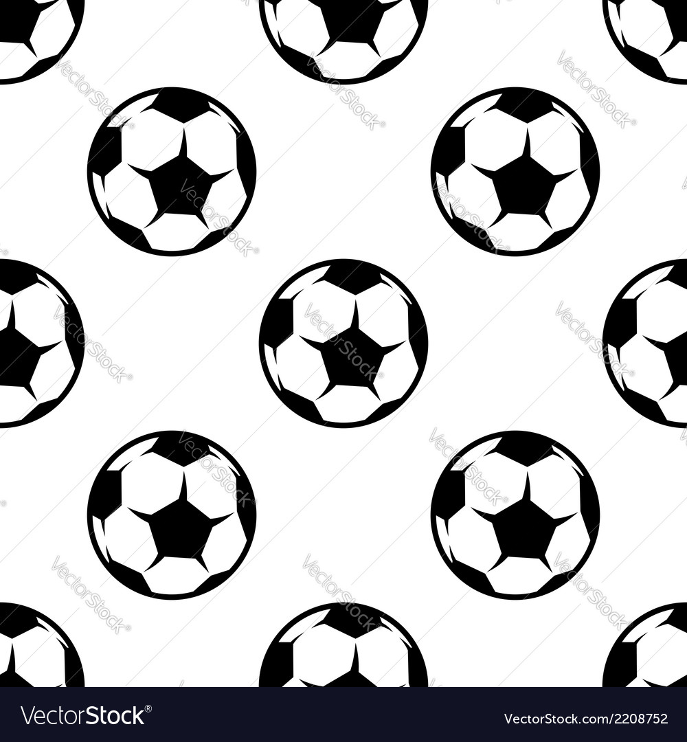 Soccer or football seamless pattern vector | Price: 1 Credit (USD $1)