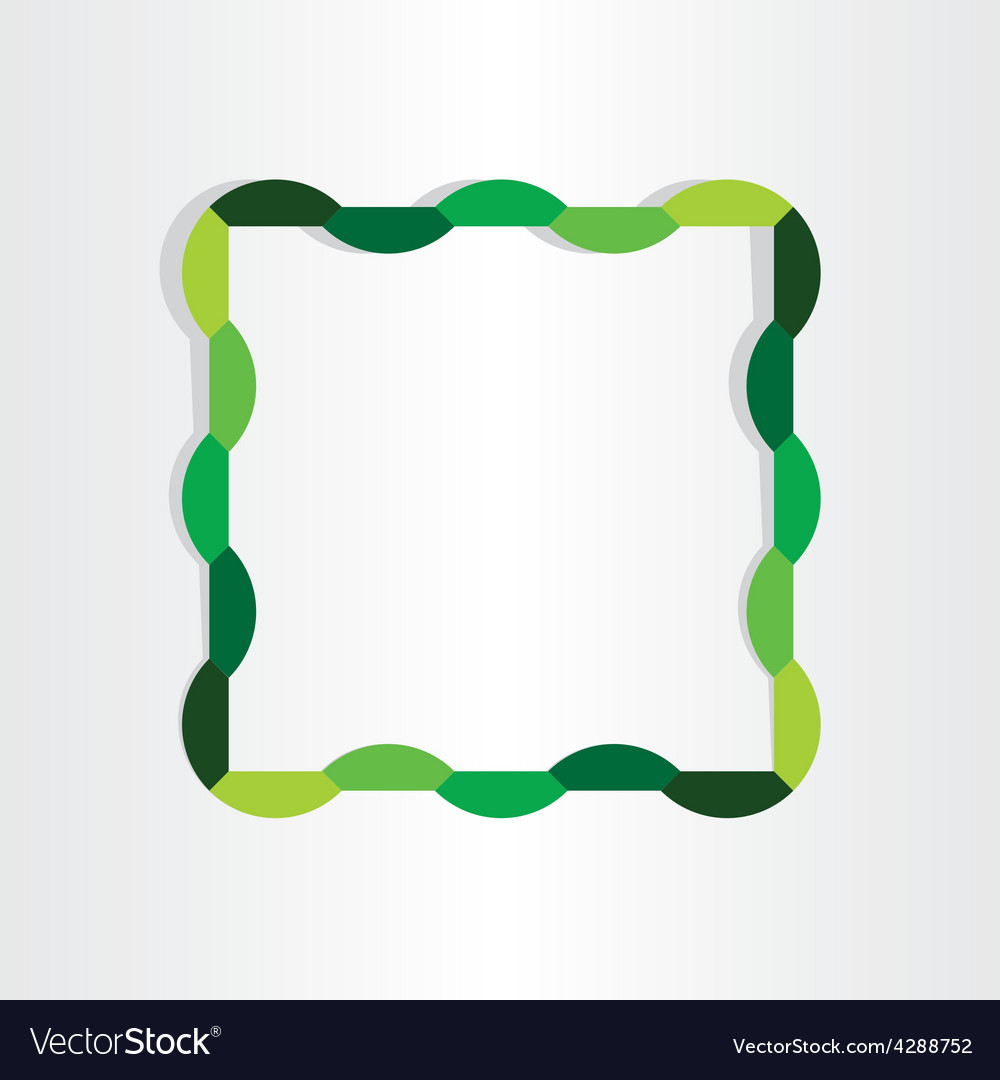 Spring frame abstract decorative design vector | Price: 1 Credit (USD $1)