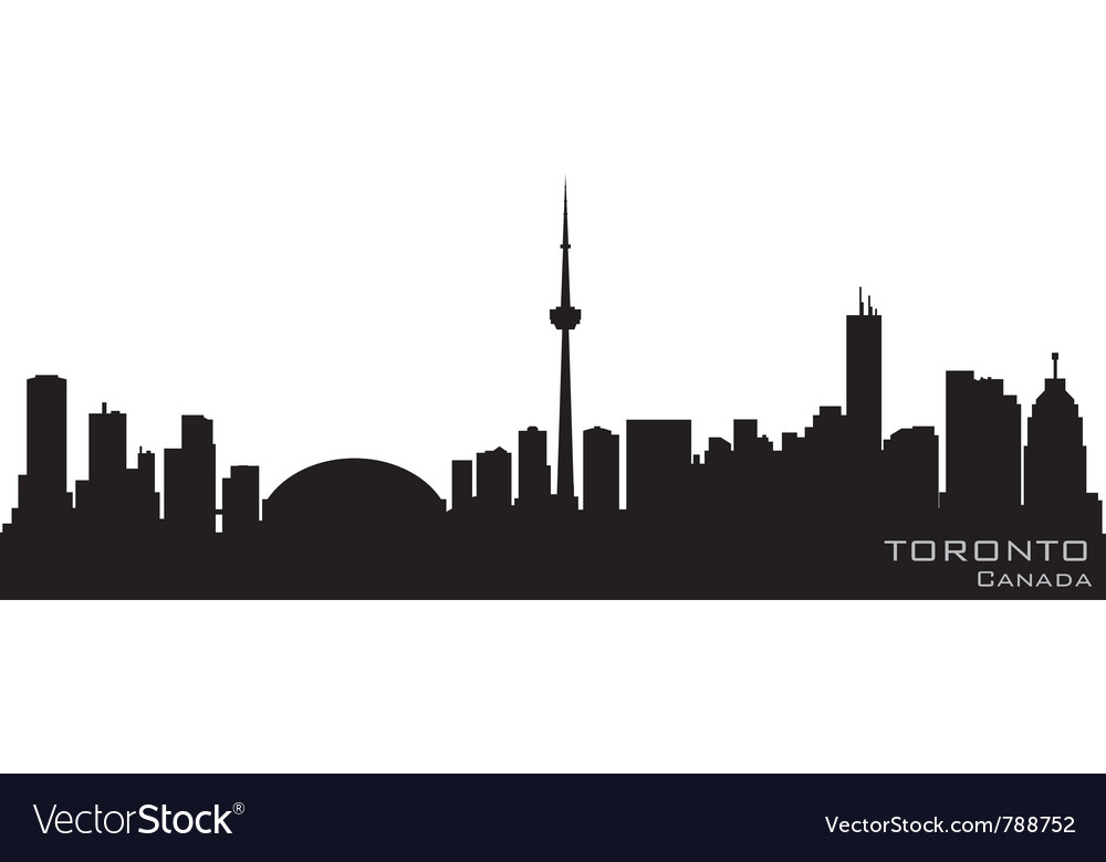 Toronto canada skyline detailed silhouette vector | Price: 1 Credit (USD $1)
