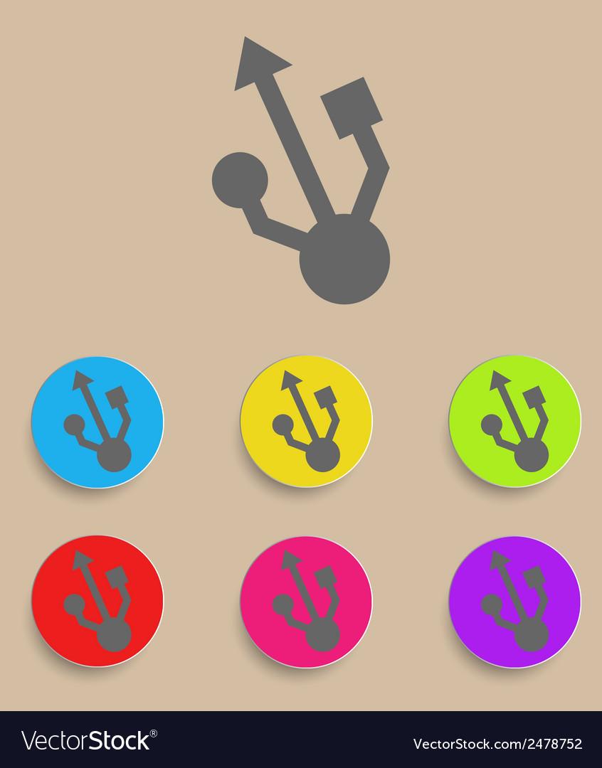 Usb symbol - flat design vector   Price: 1 Credit (USD $1)