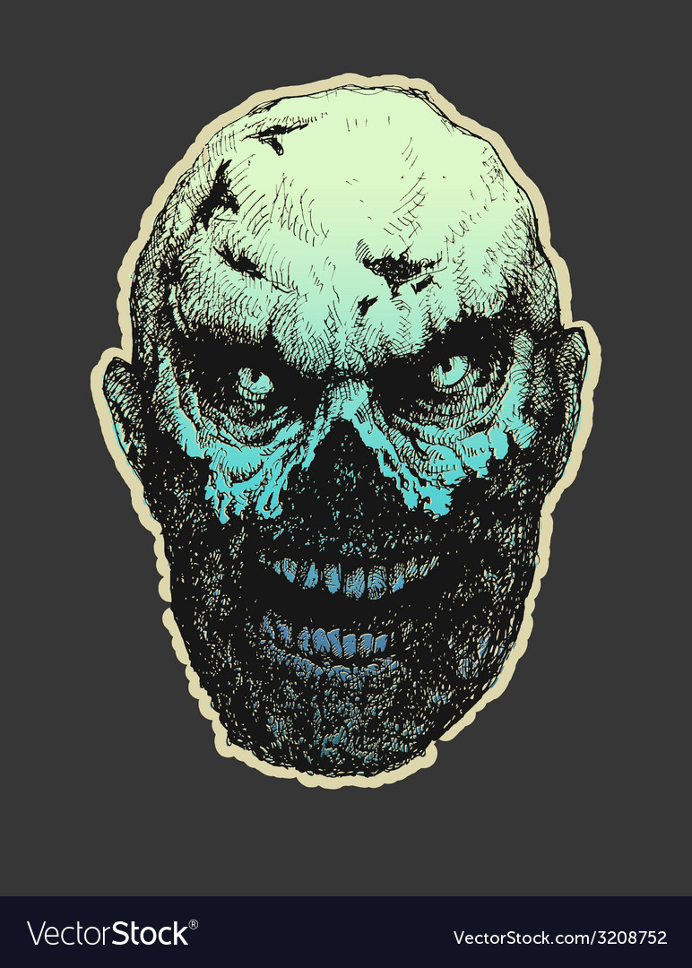Zombie hand drawn eps8 vector | Price: 3 Credit (USD $3)