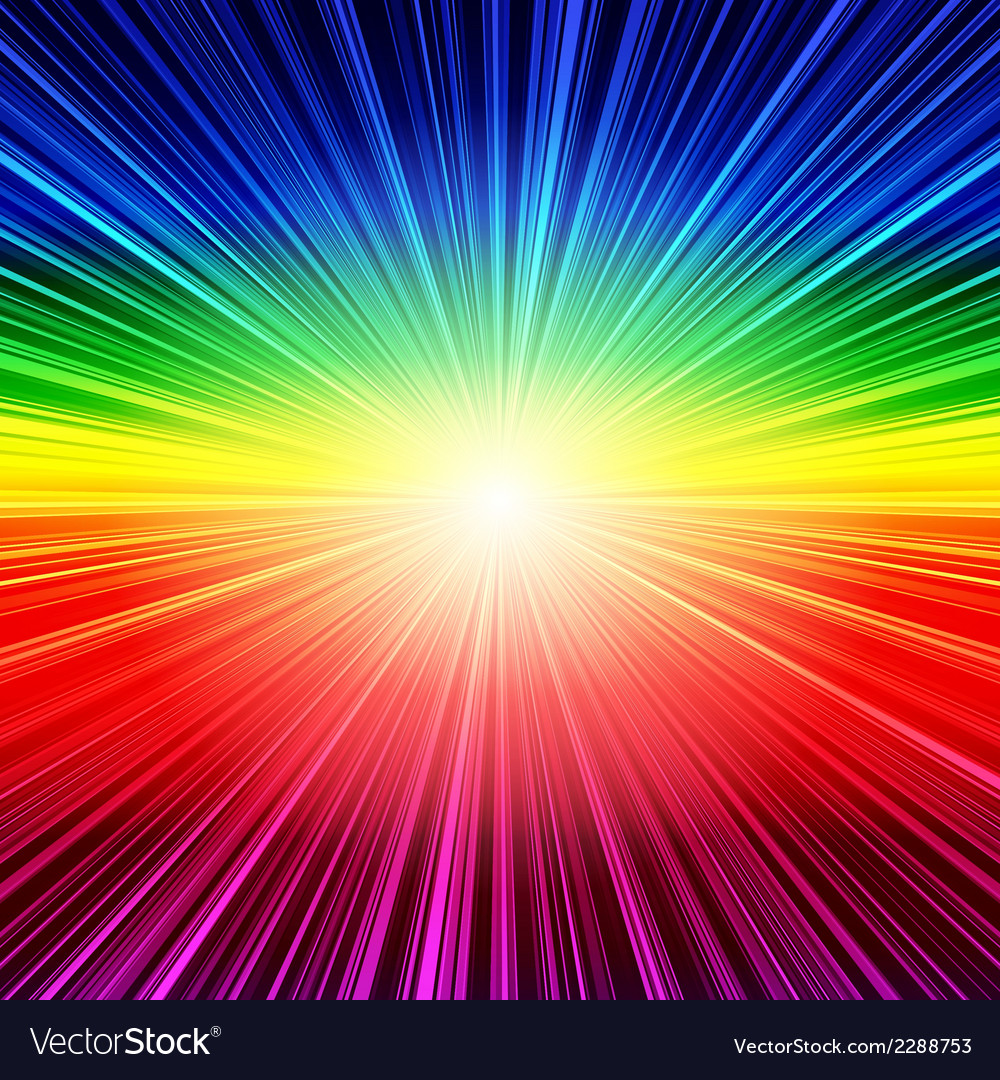 Abstract rainbow striped burst background vector | Price: 1 Credit (USD $1)