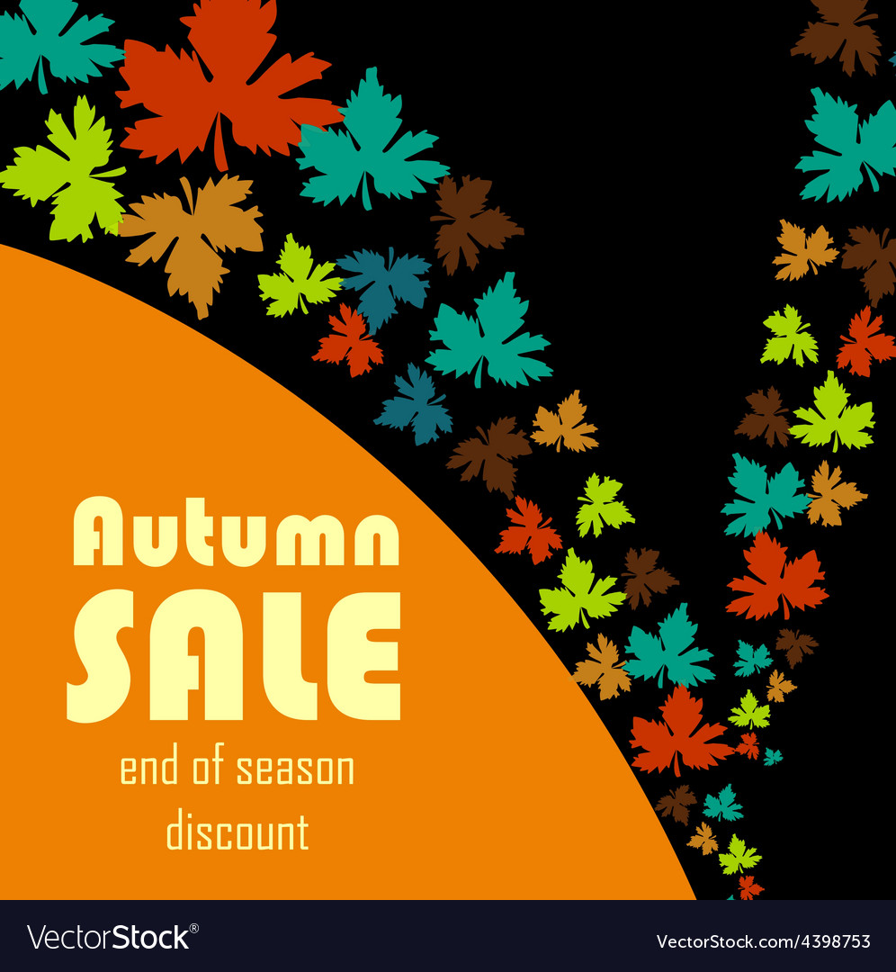 Autumn sale background vector | Price: 3 Credit (USD $3)