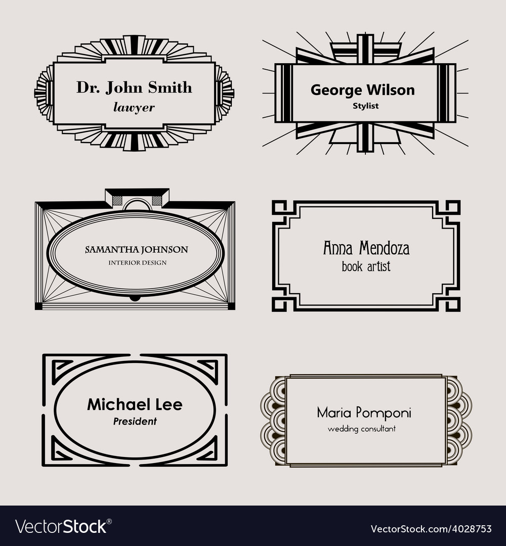 Beautiful blank frames for business cards vector | Price: 1 Credit (USD $1)