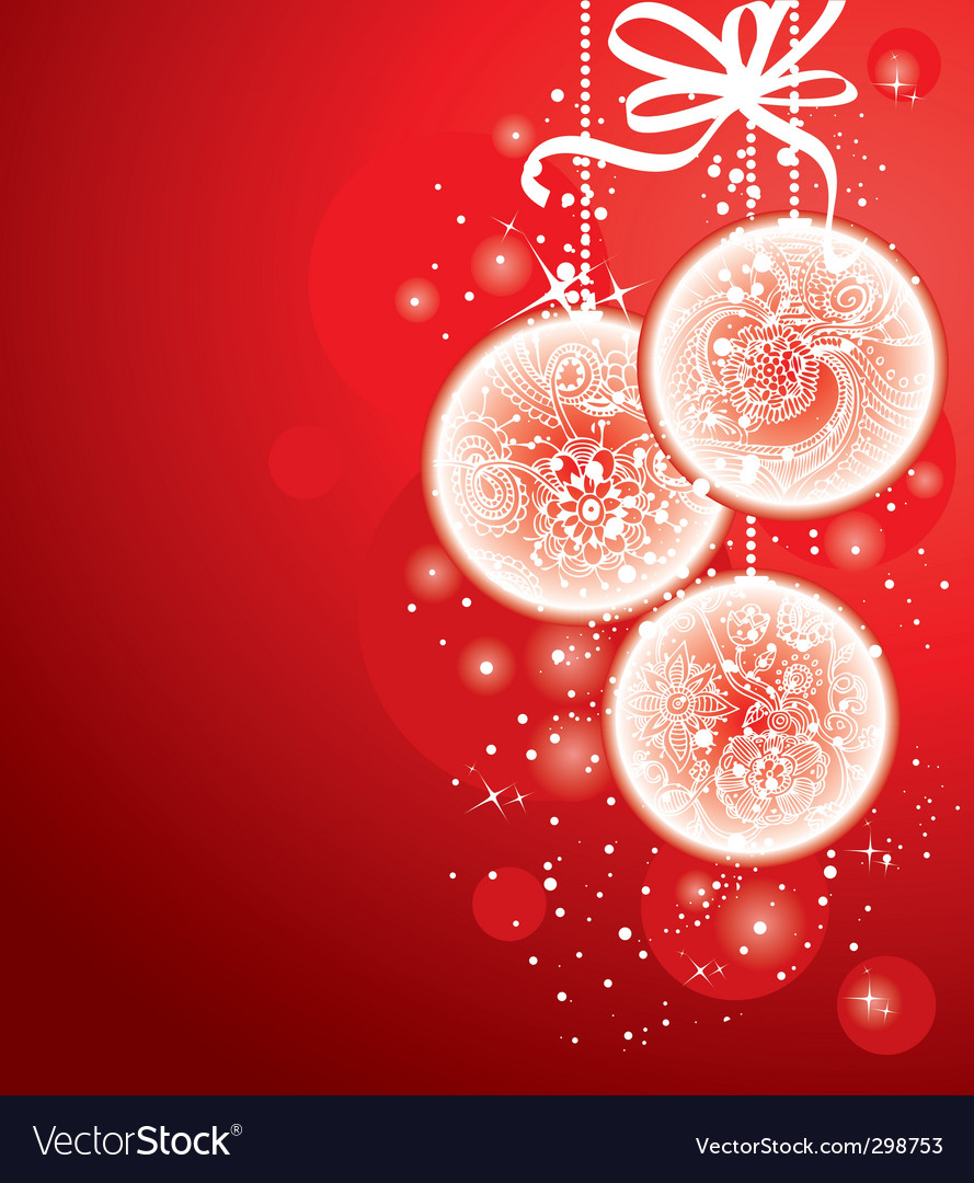 Christmas balls red vector | Price: 1 Credit (USD $1)