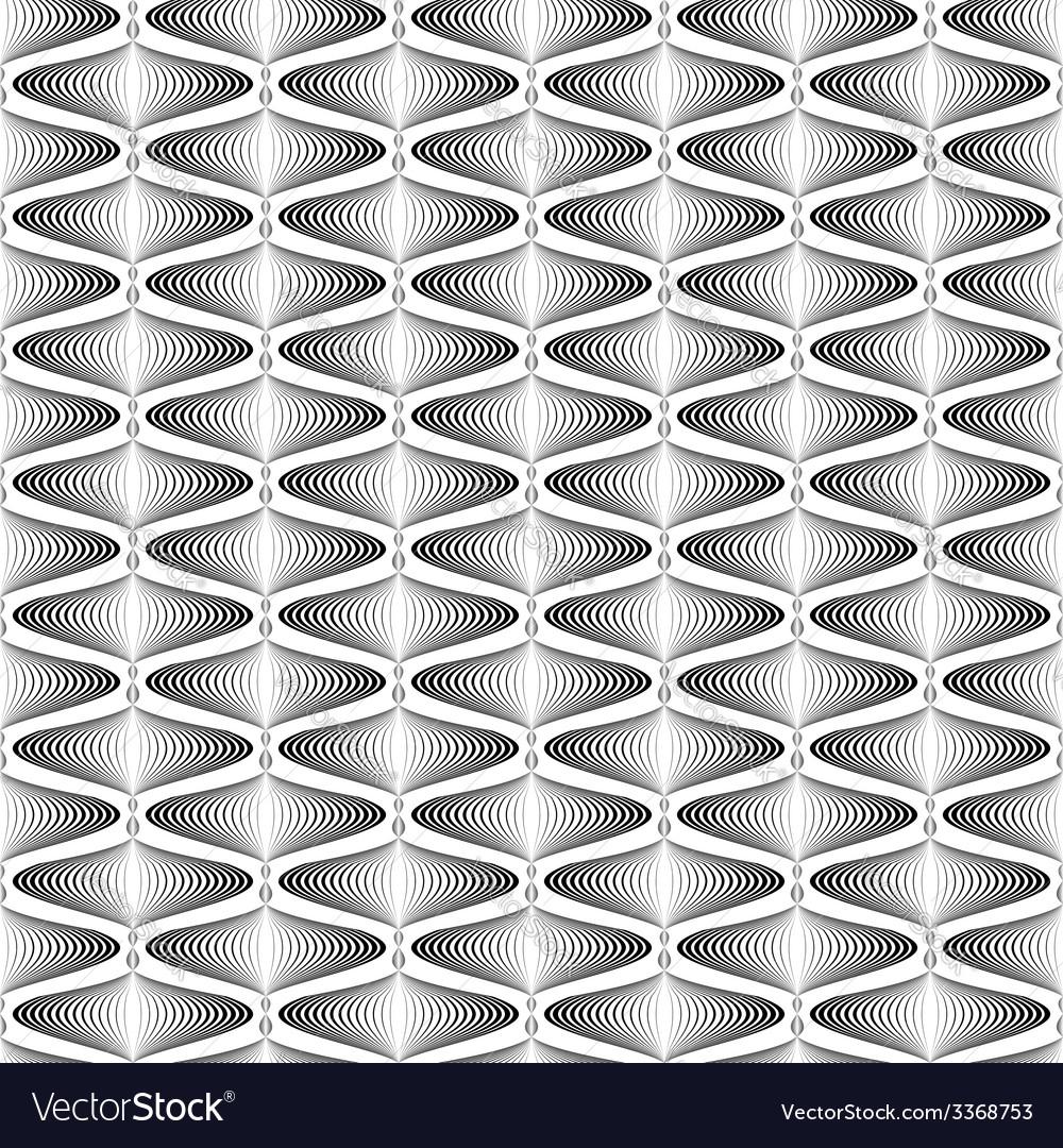 Design seamless monochrome zigzag wave pattern vector | Price: 1 Credit (USD $1)