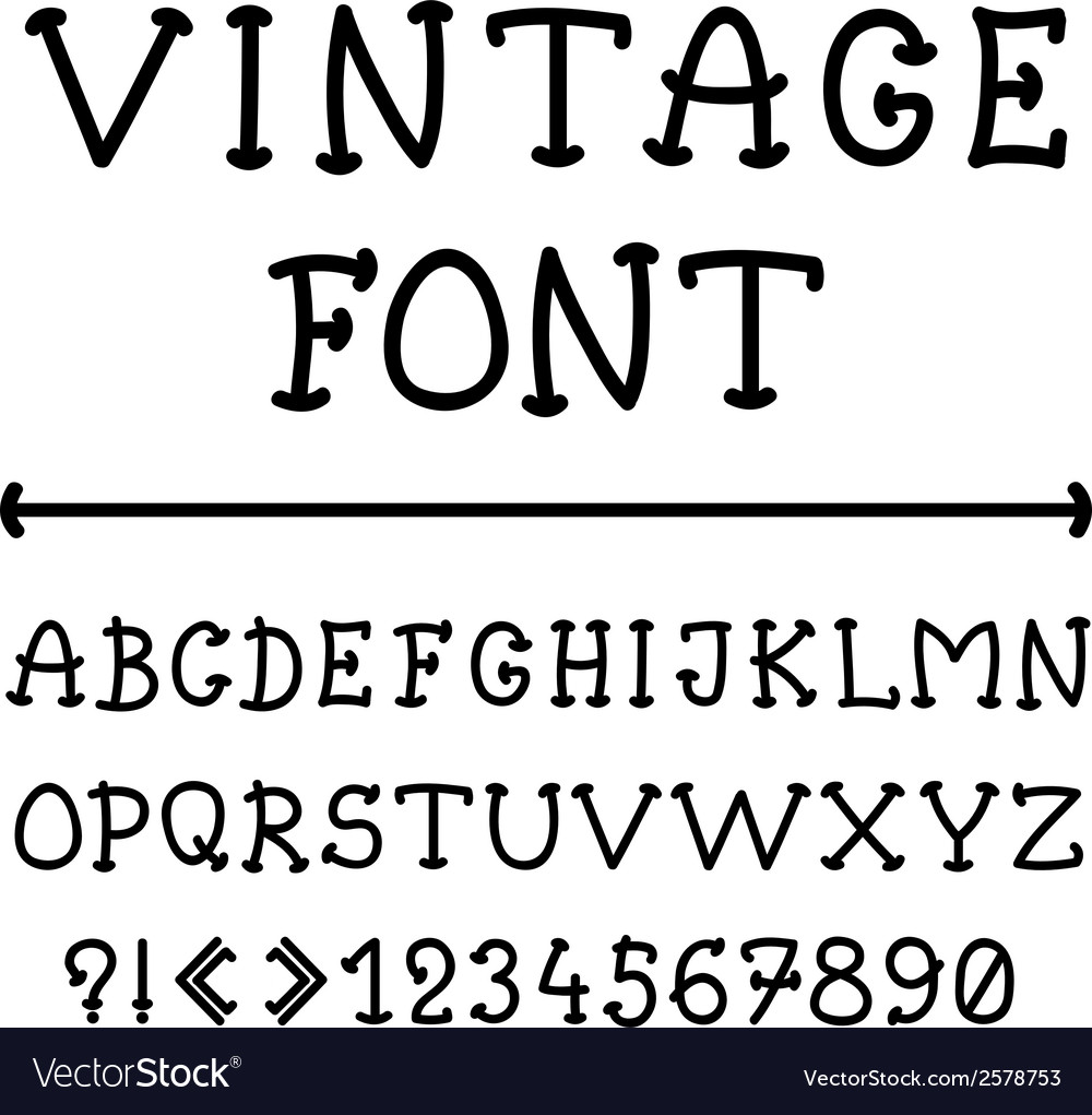 English alphabet in vintage style vector | Price: 1 Credit (USD $1)