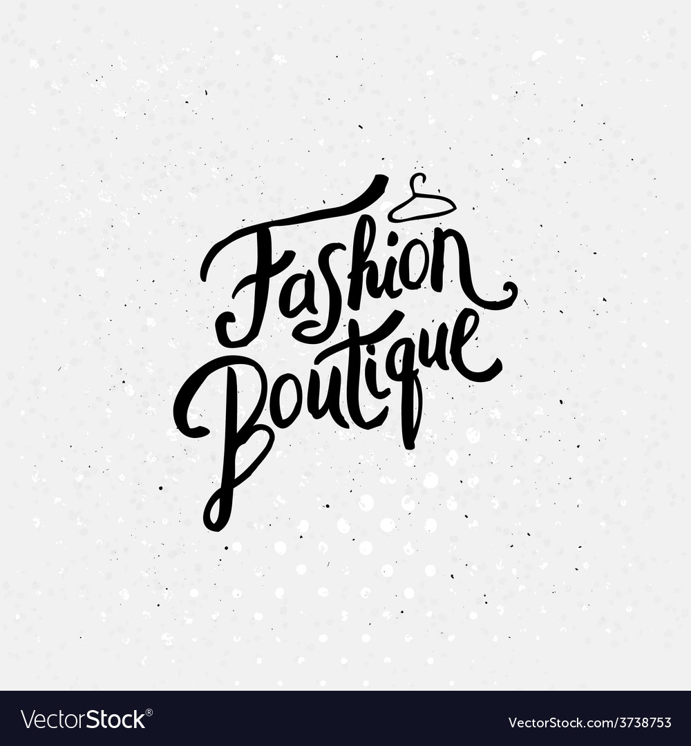 Fashion boutique concept graphic design vector | Price: 1 Credit (USD $1)