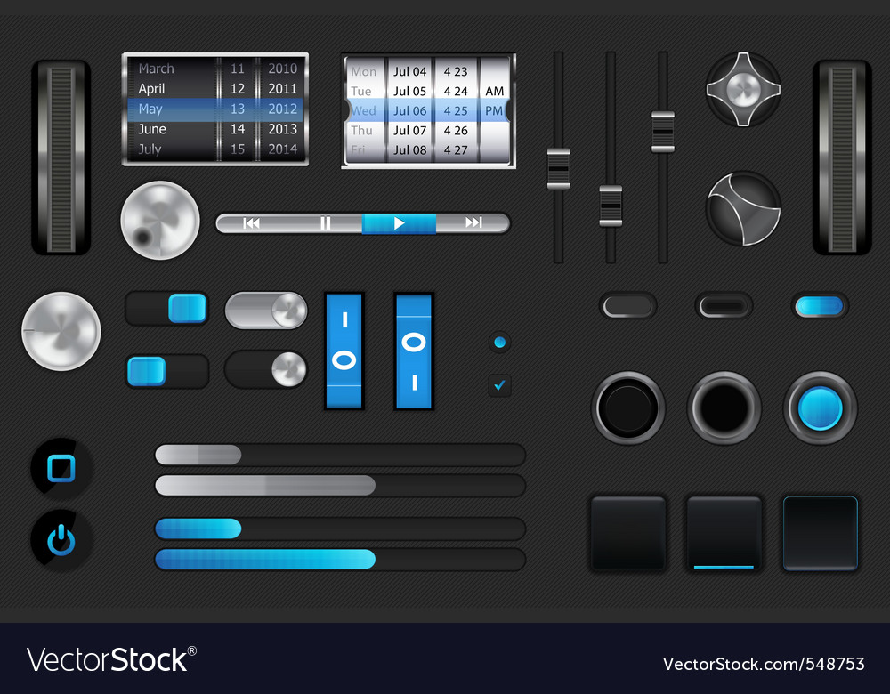 Graphic user interface vector | Price: 1 Credit (USD $1)