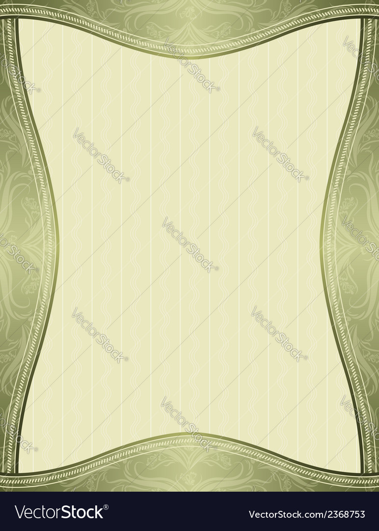 Green background with decorative ornaments vector   Price: 1 Credit (USD $1)