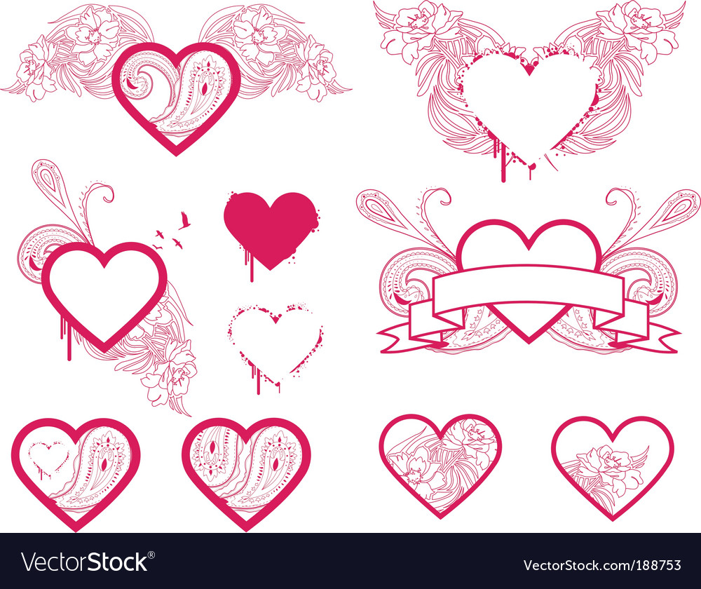 Heart selection vector | Price: 1 Credit (USD $1)