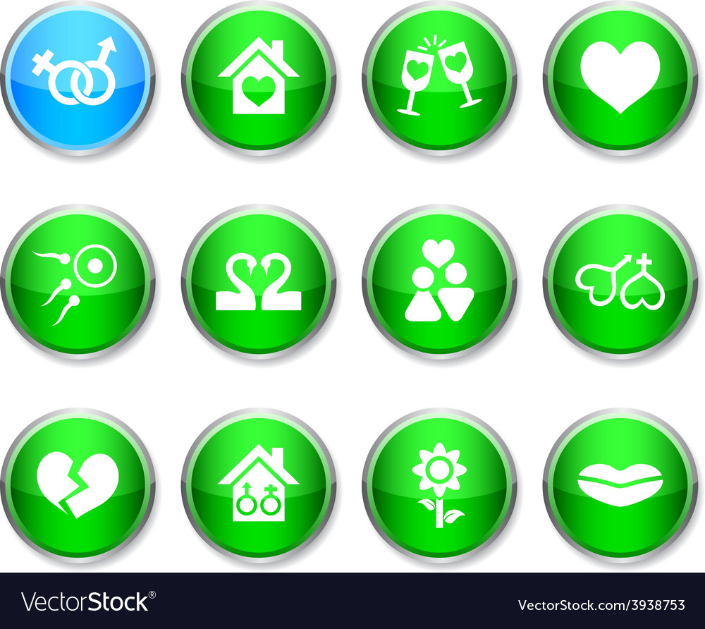 Love round icons vector | Price: 1 Credit (USD $1)