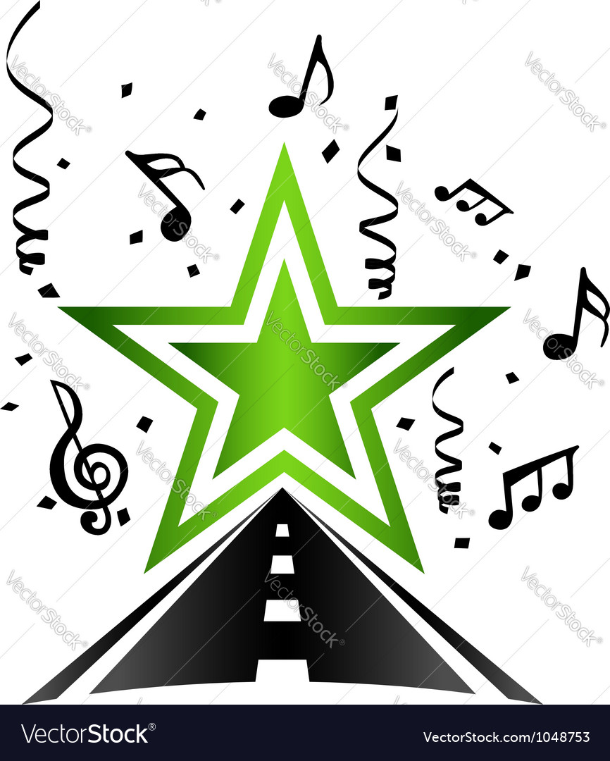 Road to star vector   Price: 1 Credit (USD $1)