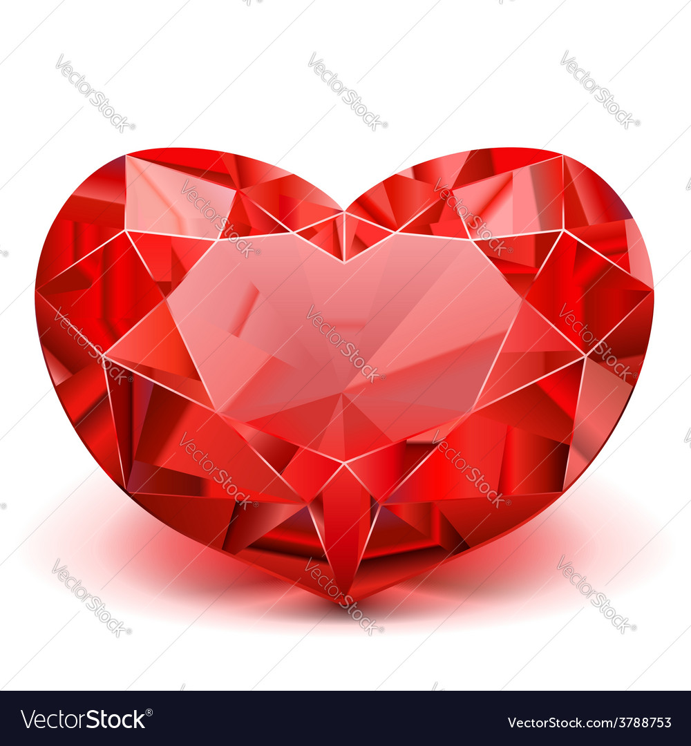 Ruby heart vector | Price: 3 Credit (USD $3)