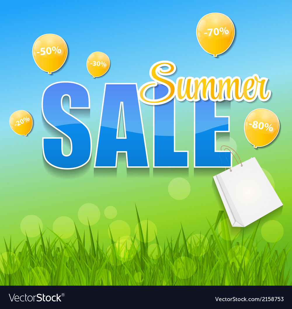 Summer sale concept vector | Price: 1 Credit (USD $1)