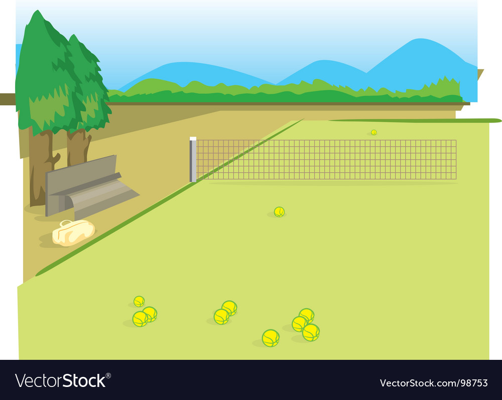 Tennis yard vector | Price: 1 Credit (USD $1)