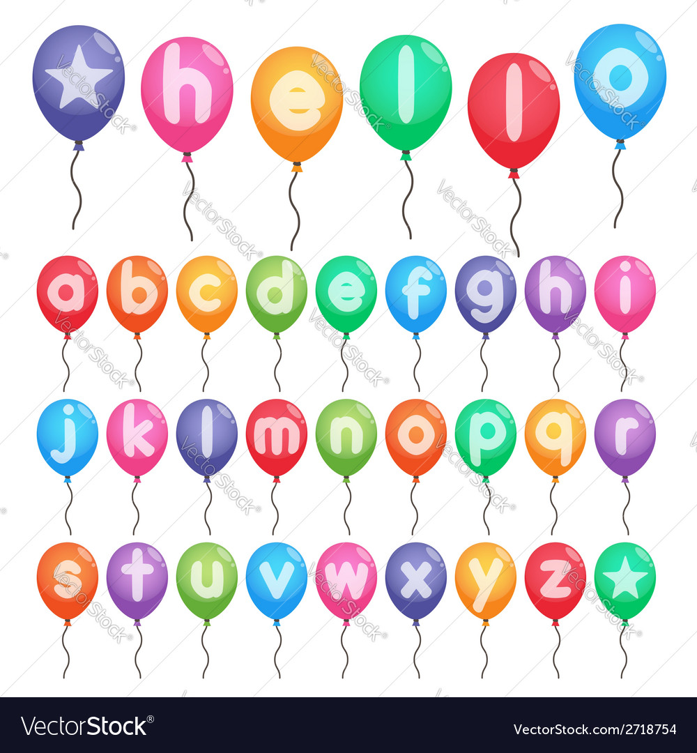 Balloon alphabet letters vector | Price: 1 Credit (USD $1)