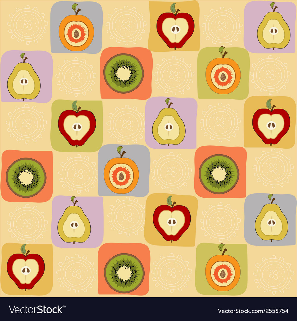 Childish seamless pattern with fruits vector | Price: 1 Credit (USD $1)