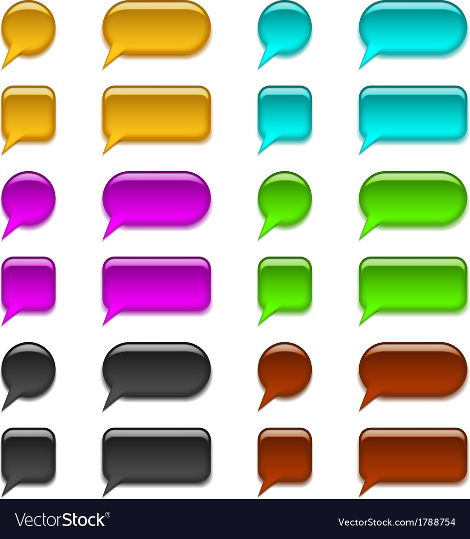 Glass buttons set vector | Price: 1 Credit (USD $1)