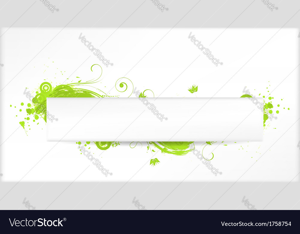 Green grunge swirls banner vector | Price: 1 Credit (USD $1)