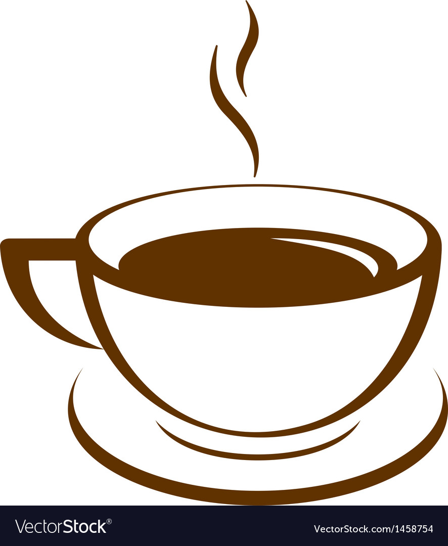 Icon of coffee cup vector | Price: 1 Credit (USD $1)