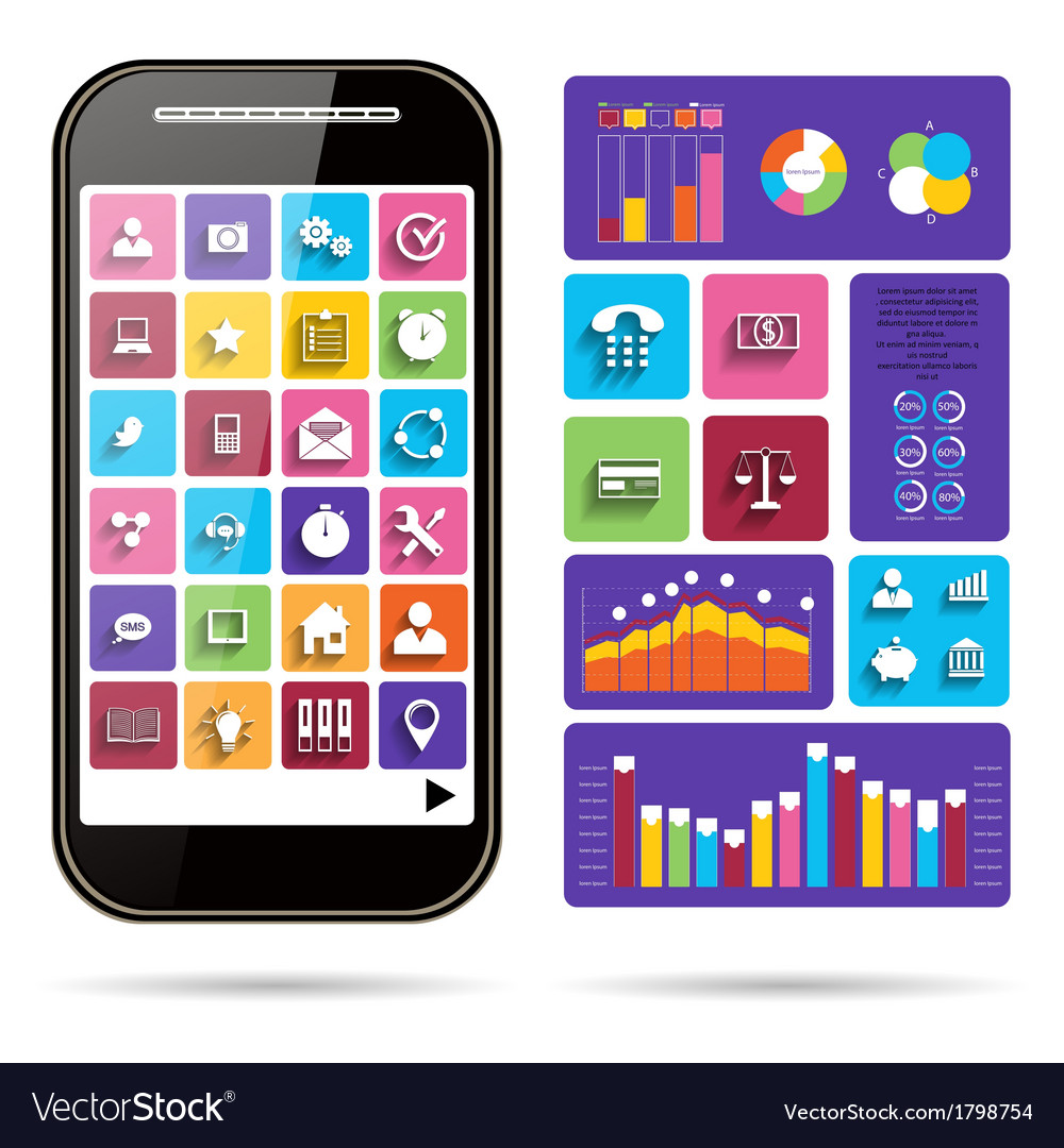 Infographic concept - scheme with icons vector | Price: 1 Credit (USD $1)