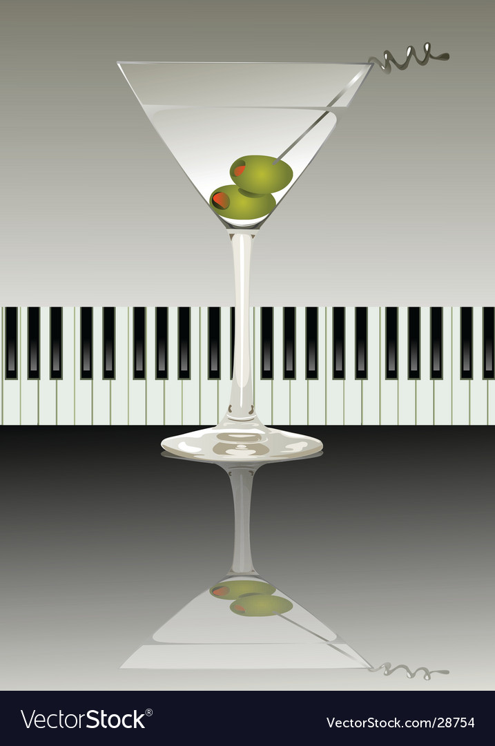 Martini cocktail vector | Price: 1 Credit (USD $1)
